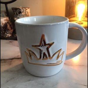 Starbucks Ceramic White & Gold Crown Coffee Cup